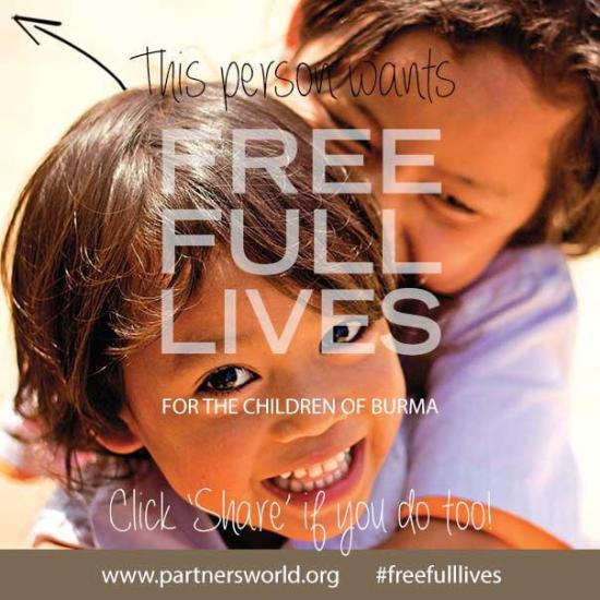 Partners Relief and Development: Free, full lives for the children of Burma | Sacraparental.com