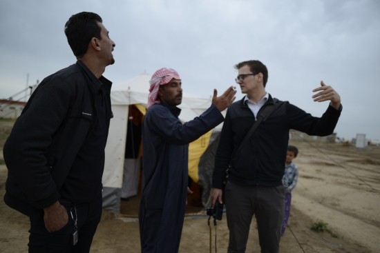 Many of the men we spoke with pointed out and gestured how close their villages were to the temporary camp they have lived in for nearly two years. ISIS is not a fear for them but a fact.